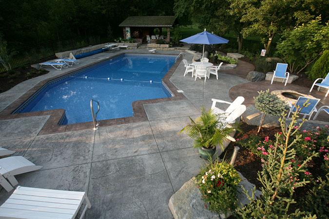 Concrete Decks Backyard